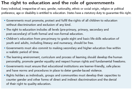 Is a good education a right or a privilege essay