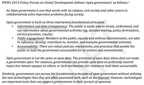 EWB Definition of Open Government