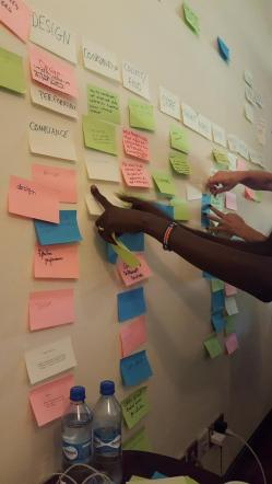 Crowdsourcing our Responsible Data questions, challenges and lessons. (Photo courtesy of Amy O'Donnell).
